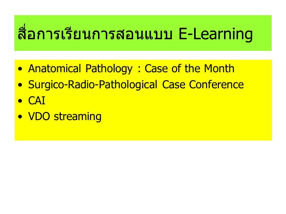 สื่อการเรียนการสอนแบบ E-Learning