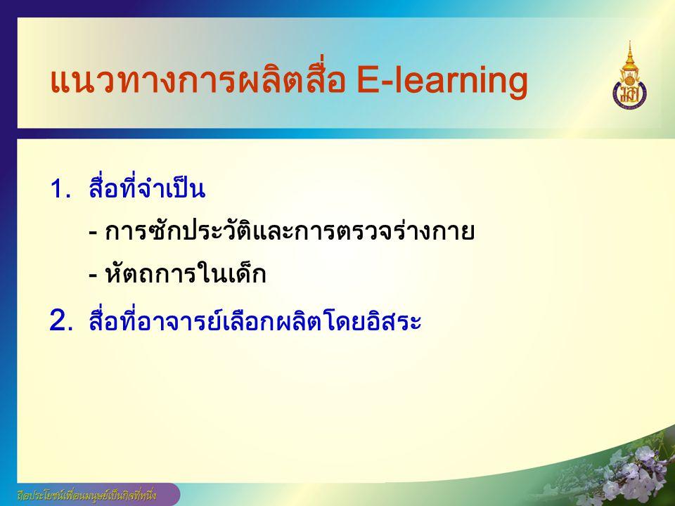 แนวทางการผลิตสื่อ E-learning