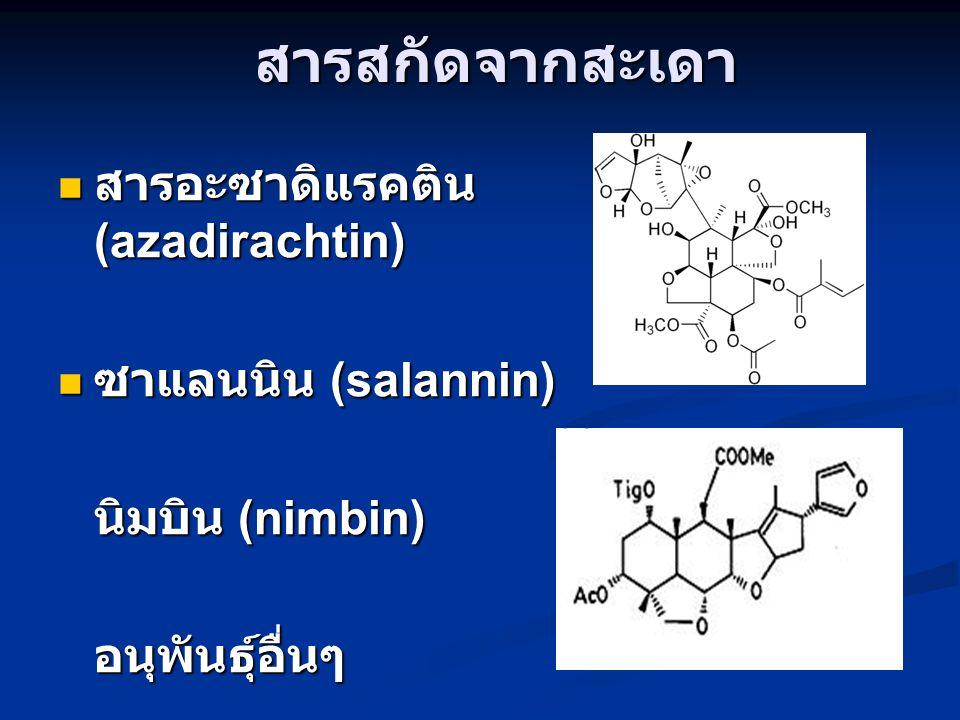 สารสกัดจากสะเดา สารอะซาดิแรคติน(azadirachtin) ซาแลนนิน (salannin)