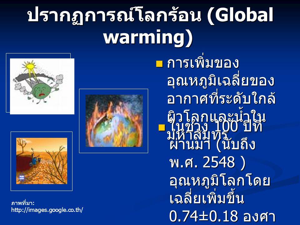 ปรากฏการณ์โลกร้อน (Global warming)