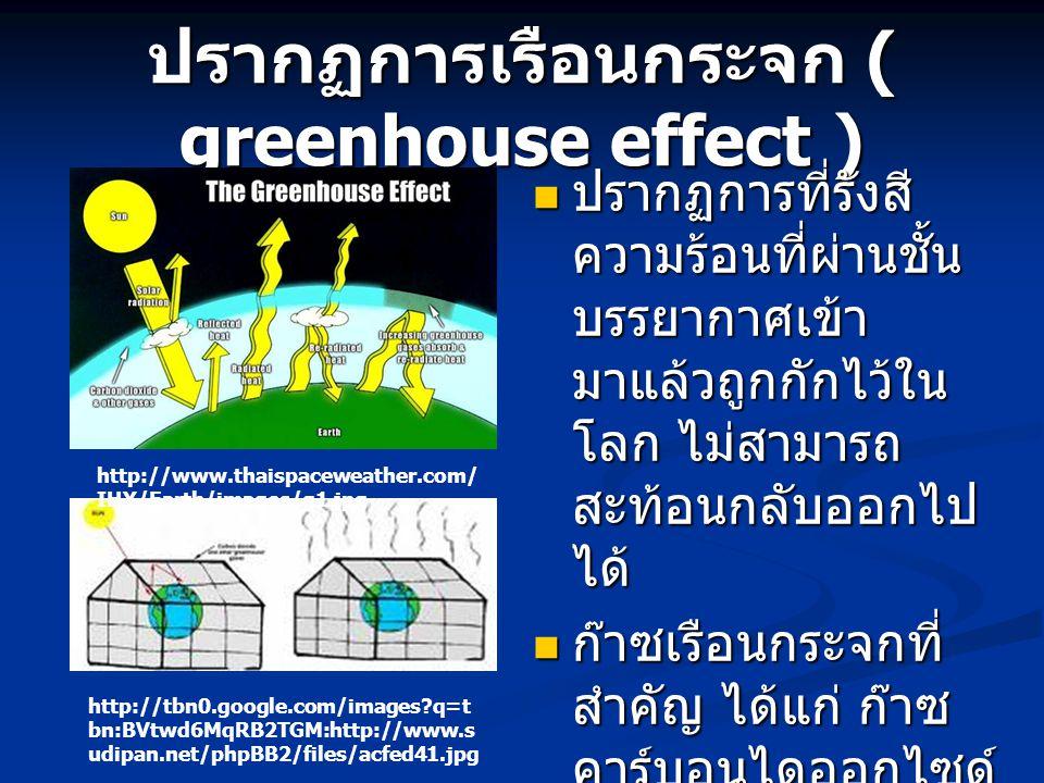 ปรากฏการเรือนกระจก ( greenhouse effect )