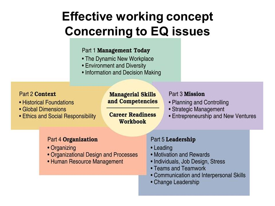 Effective working concept Concerning to EQ issues