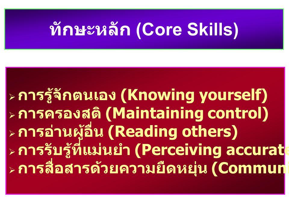 ทักษะหลัก (Core Skills)