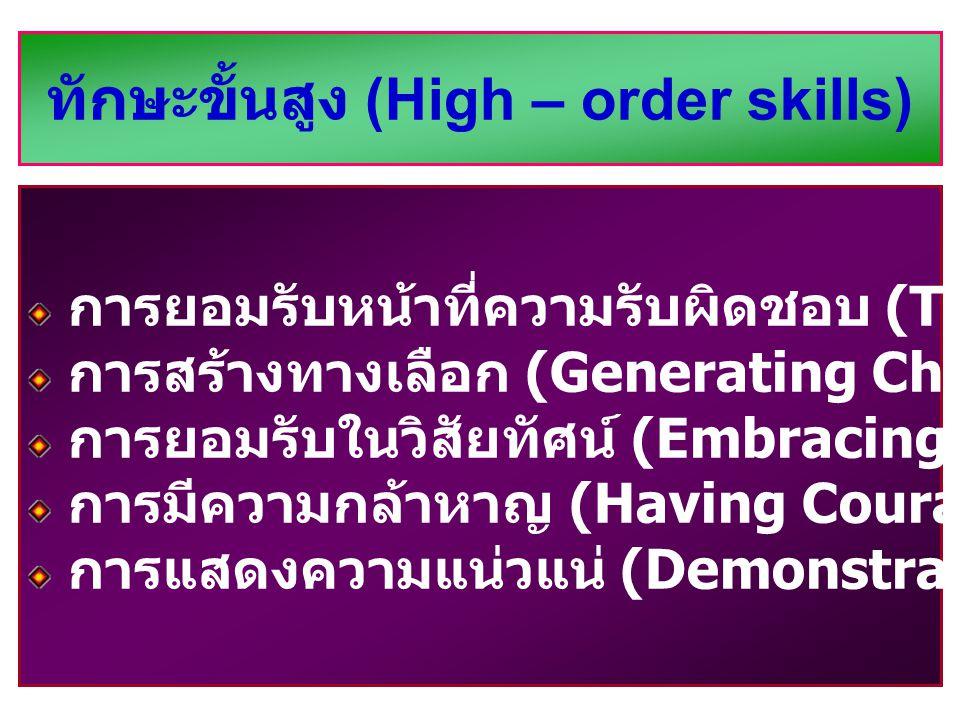 ทักษะขั้นสูง (High – order skills)
