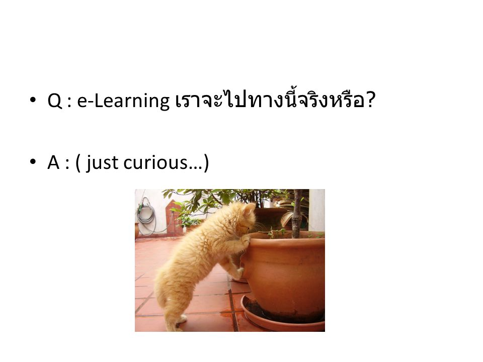 Q : e-Learning เราจะไปทางนี้จริงหรือ