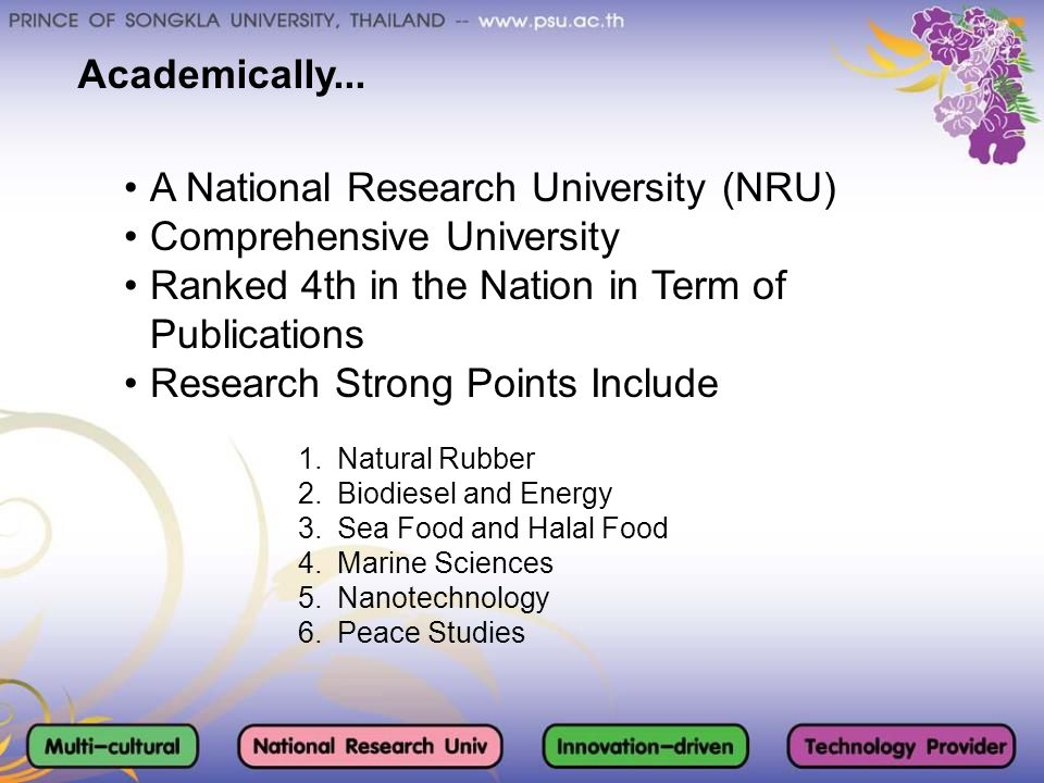 A National Research University (NRU) Comprehensive University