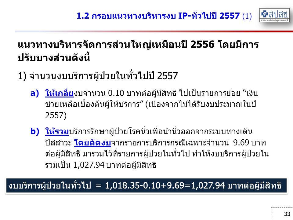 1.2 กรอบแนวทางบริหารงบ IP-ทั่วไปปี 2557 (1)