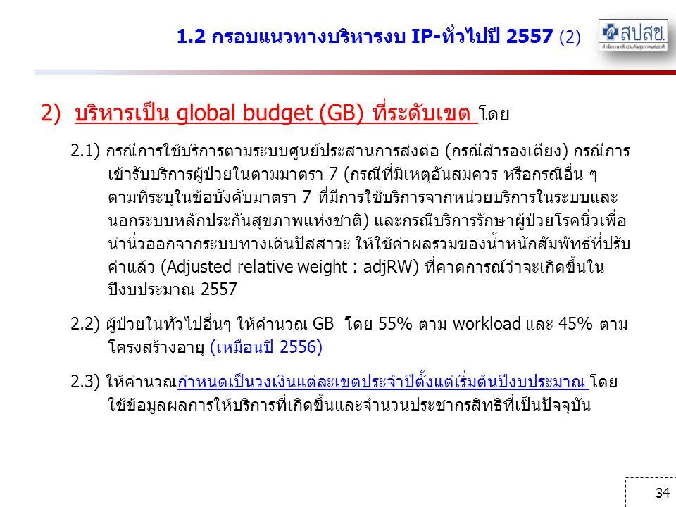 1.2 กรอบแนวทางบริหารงบ IP-ทั่วไปปี 2557 (2)