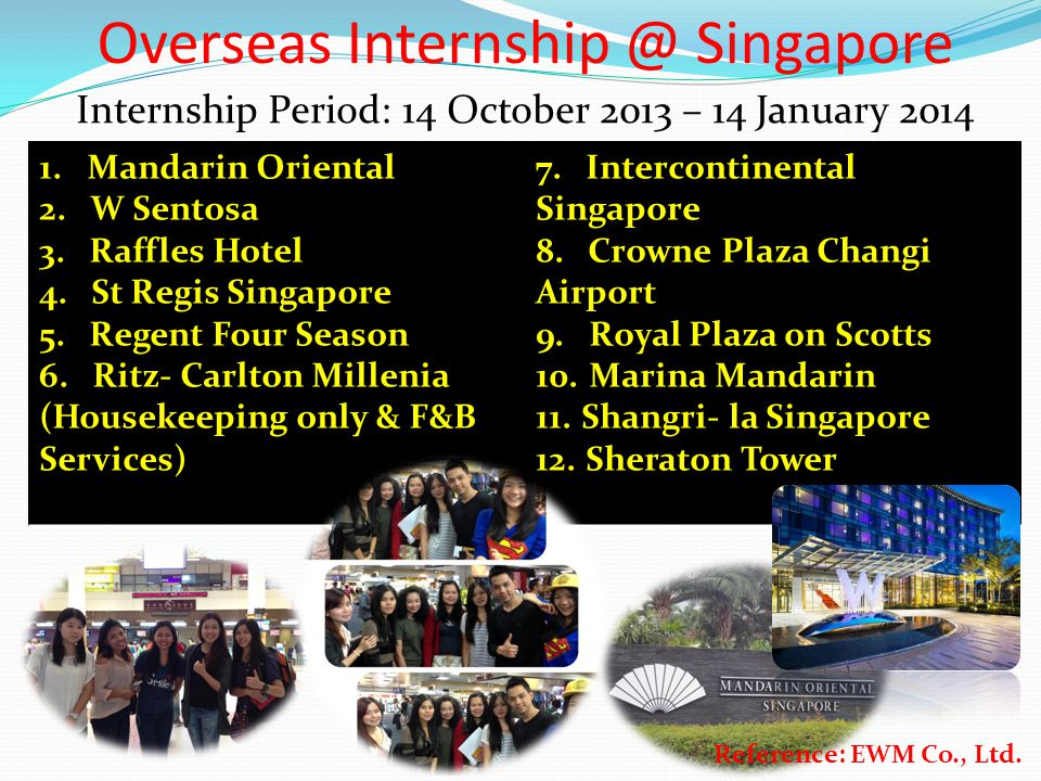 Overseas Internship @ Singapore