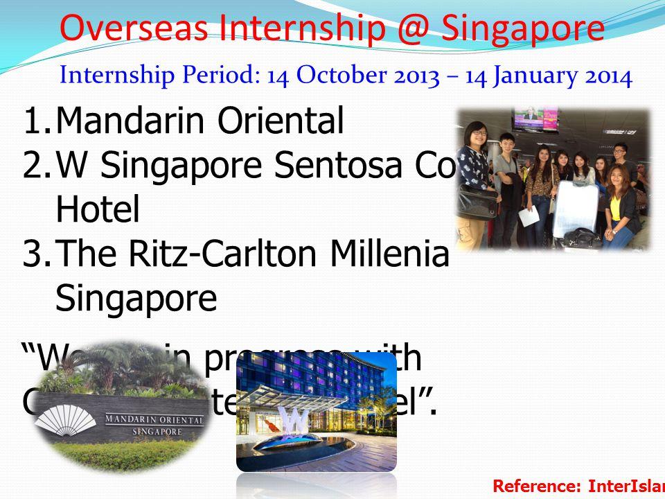 Overseas Internship @ Singapore