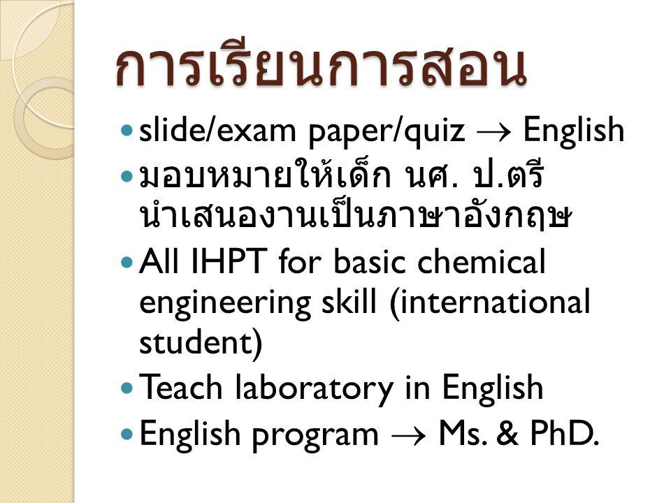 การเรียนการสอน slide/exam paper/quiz  English