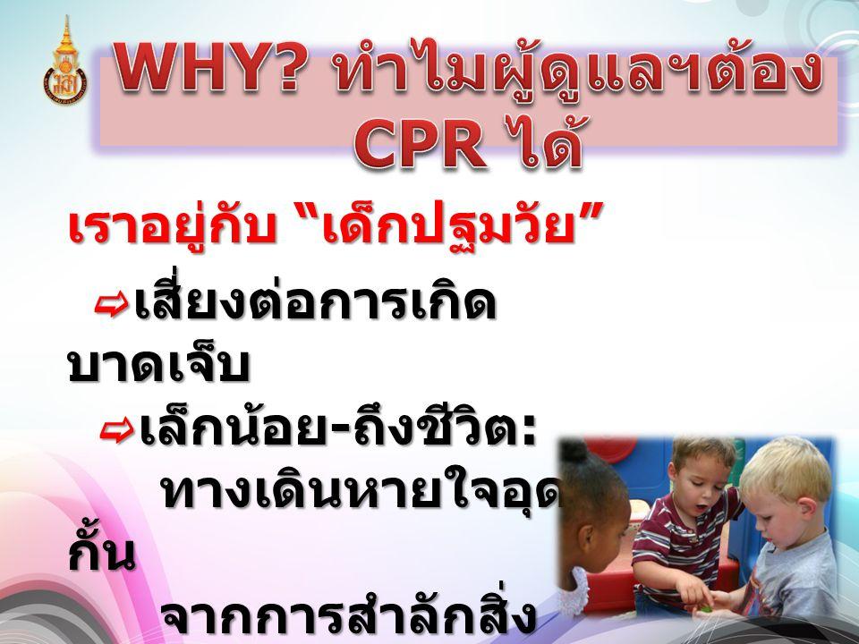 WHY ทำไมผู้ดูแลฯต้อง CPR ได้