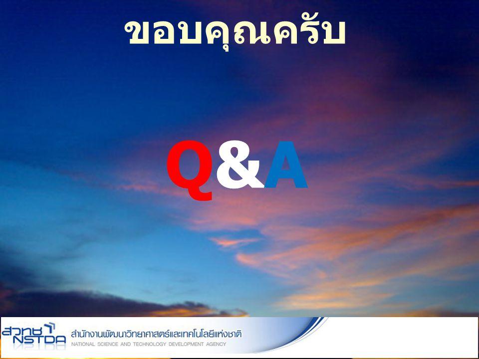 ขอบคุณครับ Q&A