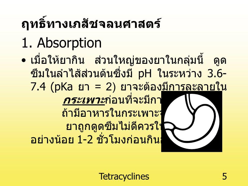 1. Absorption ฤทธิ์ทางเภสัชจลนศาสตร์