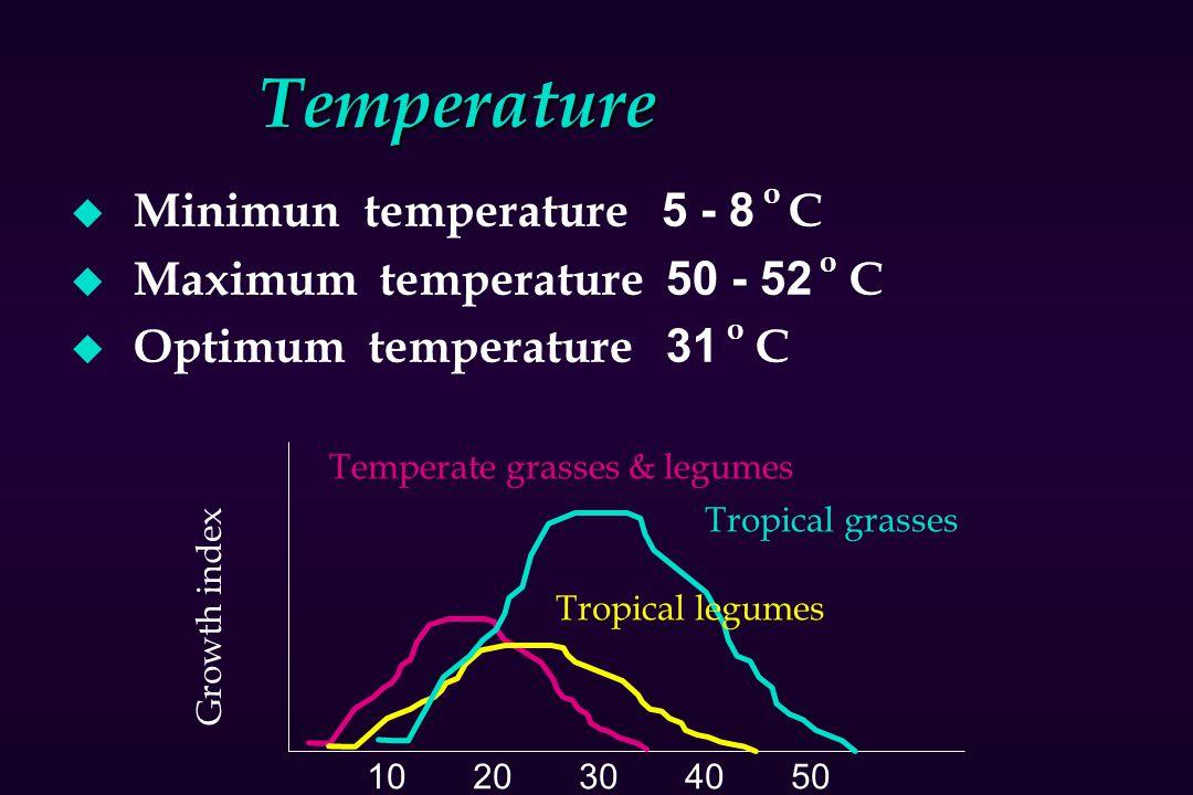 Temperature Minimun temperature 5 - 8 o C