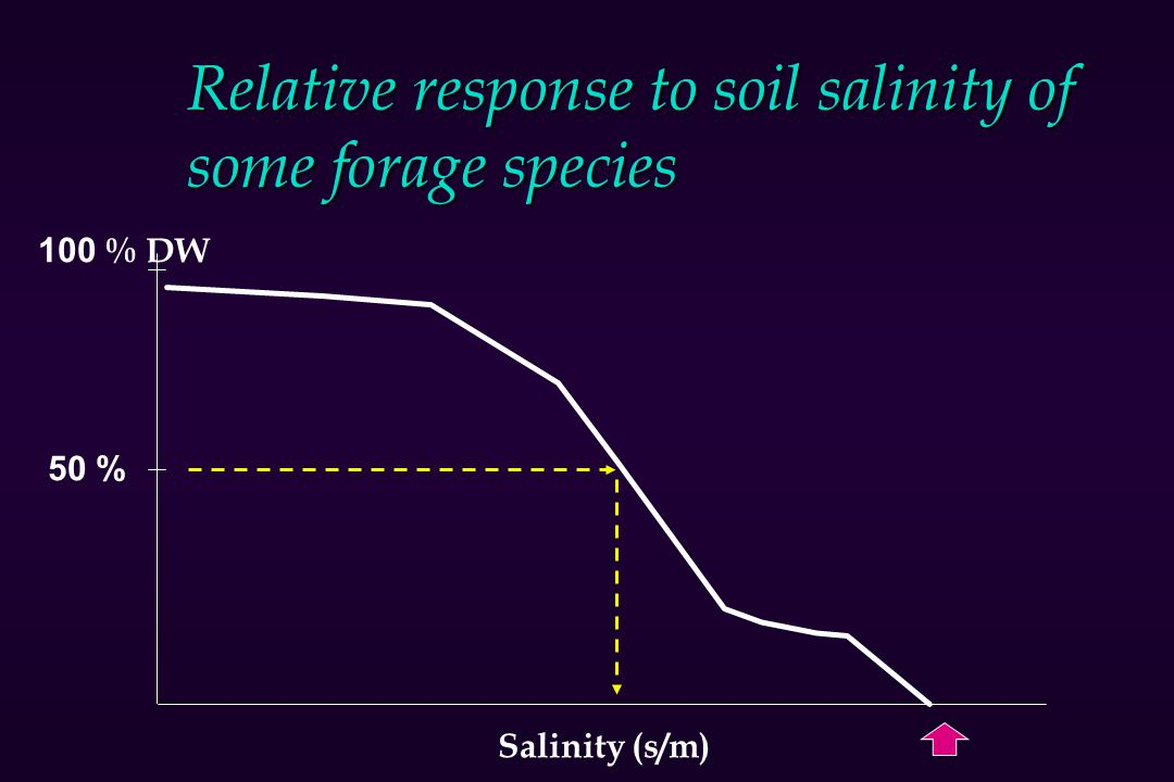 Relative response to soil salinity of some forage species