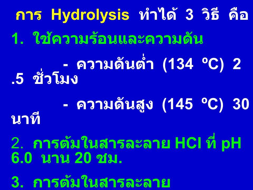 การ Hydrolysis ทำได้ 3 วิธี คือ