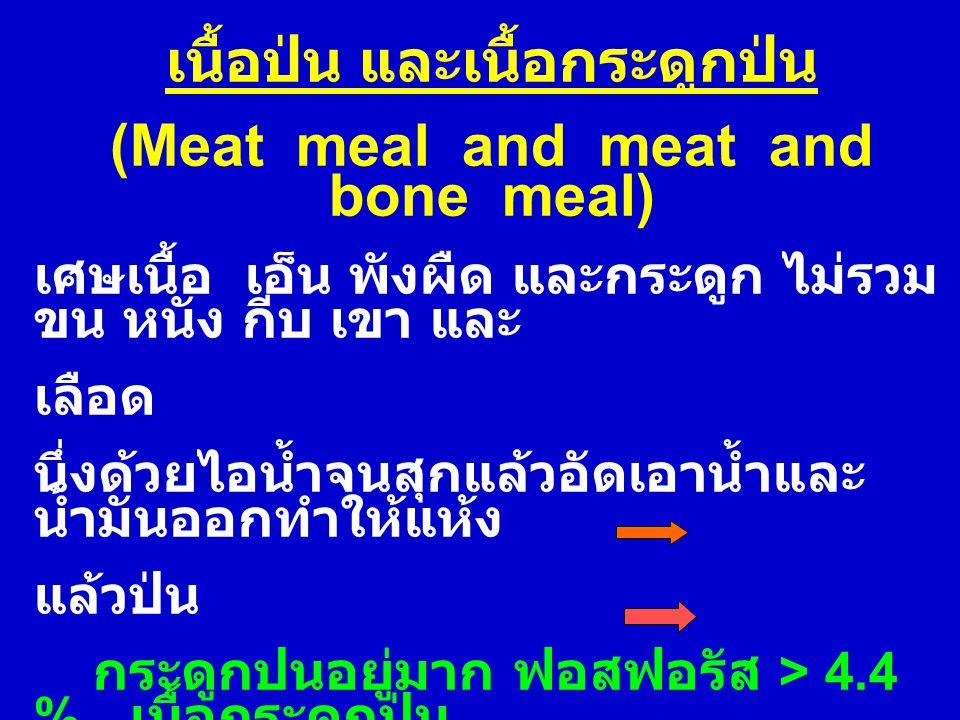 เนื้อป่น และเนื้อกระดูกป่น (Meat meal and meat and bone meal)