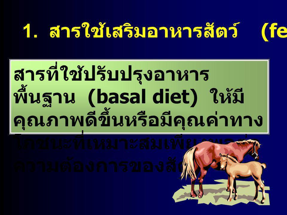 1. สารใช้เสริมอาหารสัตว์ (feed supplement)