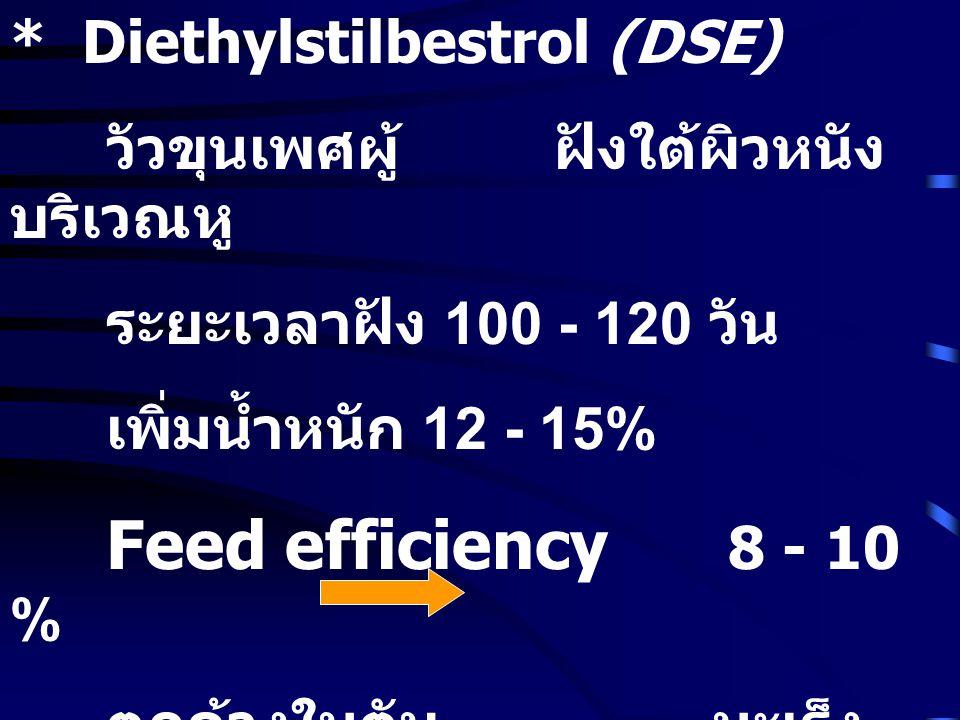 * Diethylstilbestrol (DSE)