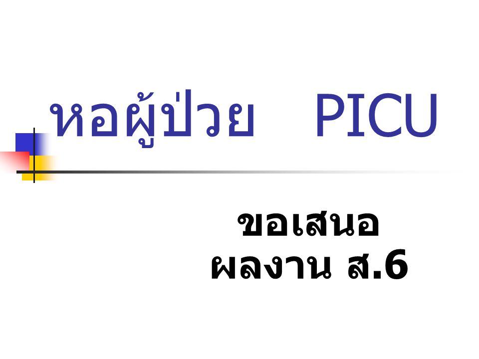 หอผู้ป่วย PICU ขอเสนอผลงาน ส.6