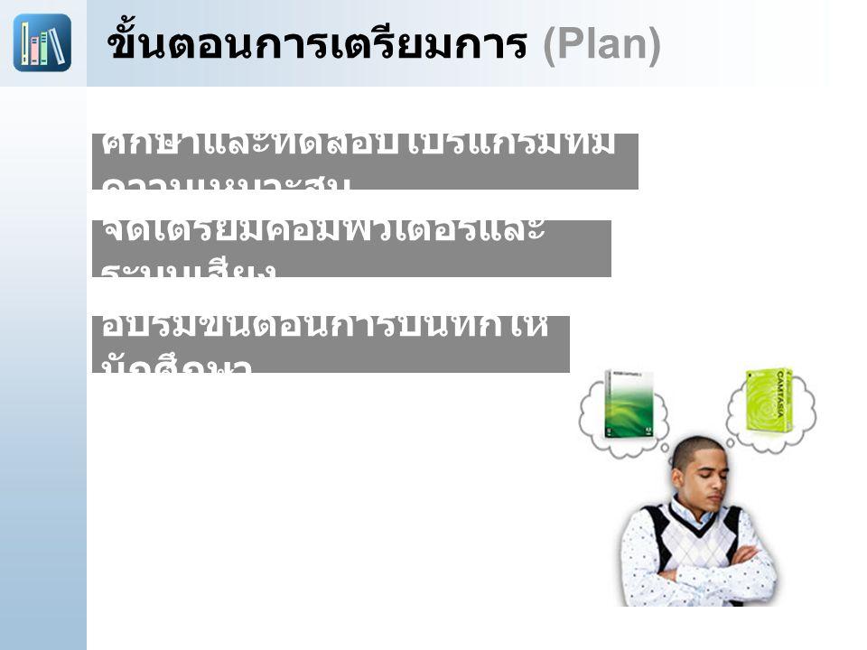 ขั้นตอนการเตรียมการ (Plan)