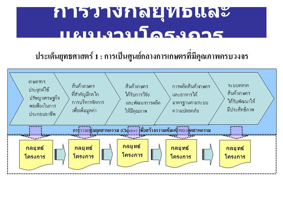 การวางกลยุทธ์และแผนงานโครงการ