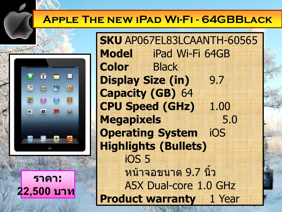 Apple The new iPad Wi-Fi - 64GBBlack