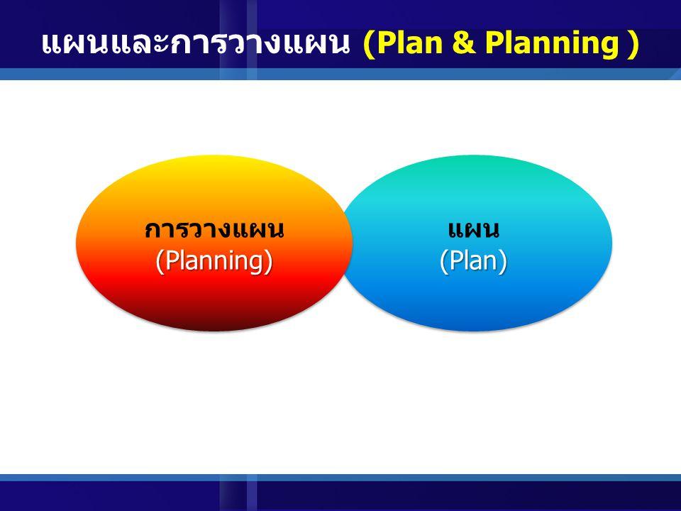 แผนและการวางแผน (Plan & Planning )