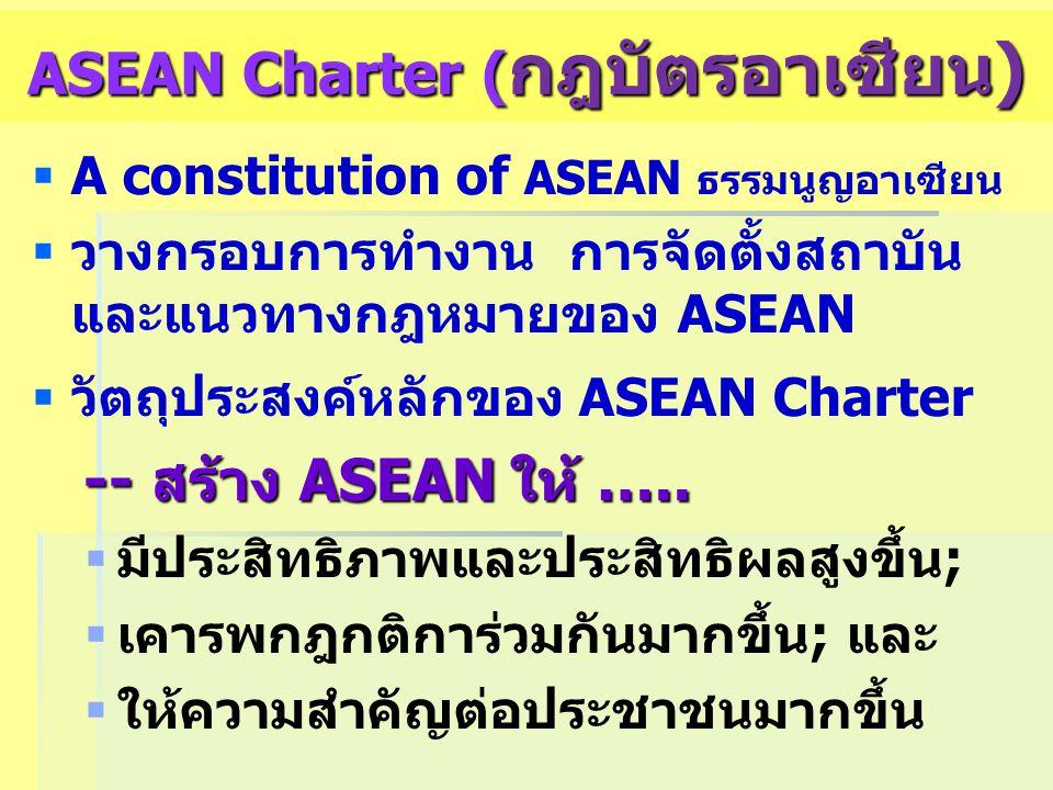 ASEAN Charter (กฎบัตรอาเซียน)