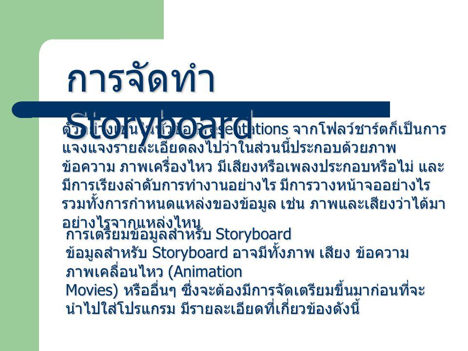 การจัดทำ Storyboard