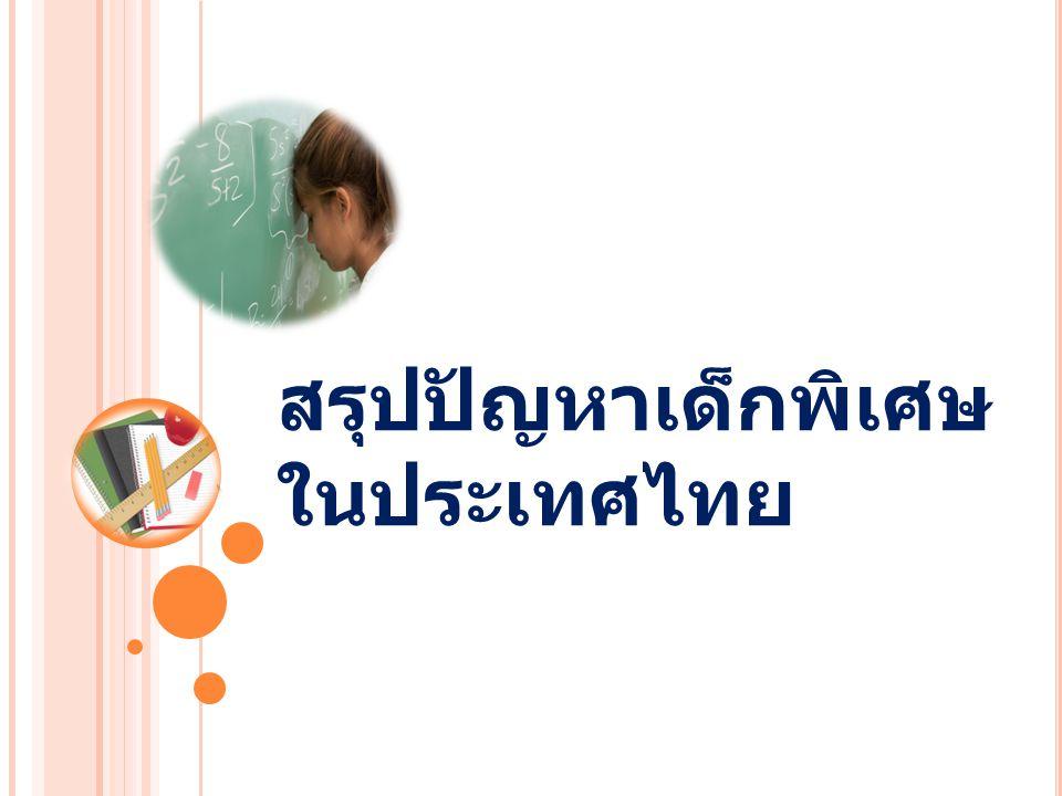 สรุปปัญหาเด็กพิเศษในประเทศไทย