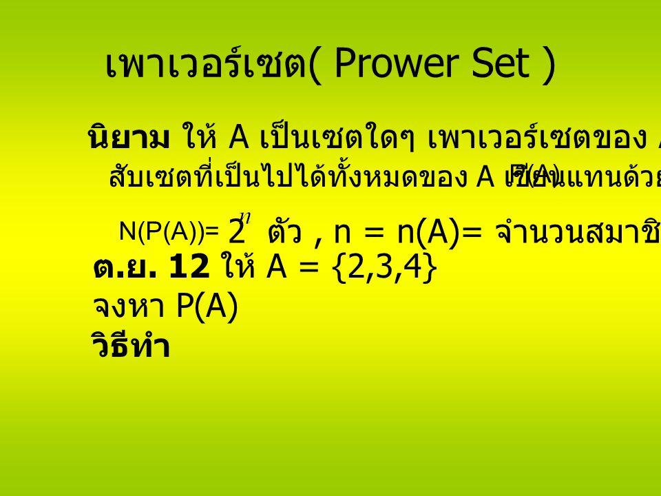 เพาเวอร์เซต( Prower Set )