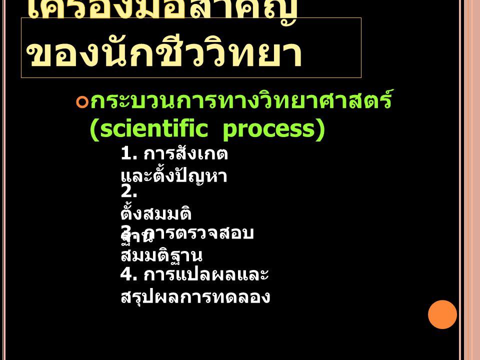เครื่องมือสำคัญของนักชีววิทยา