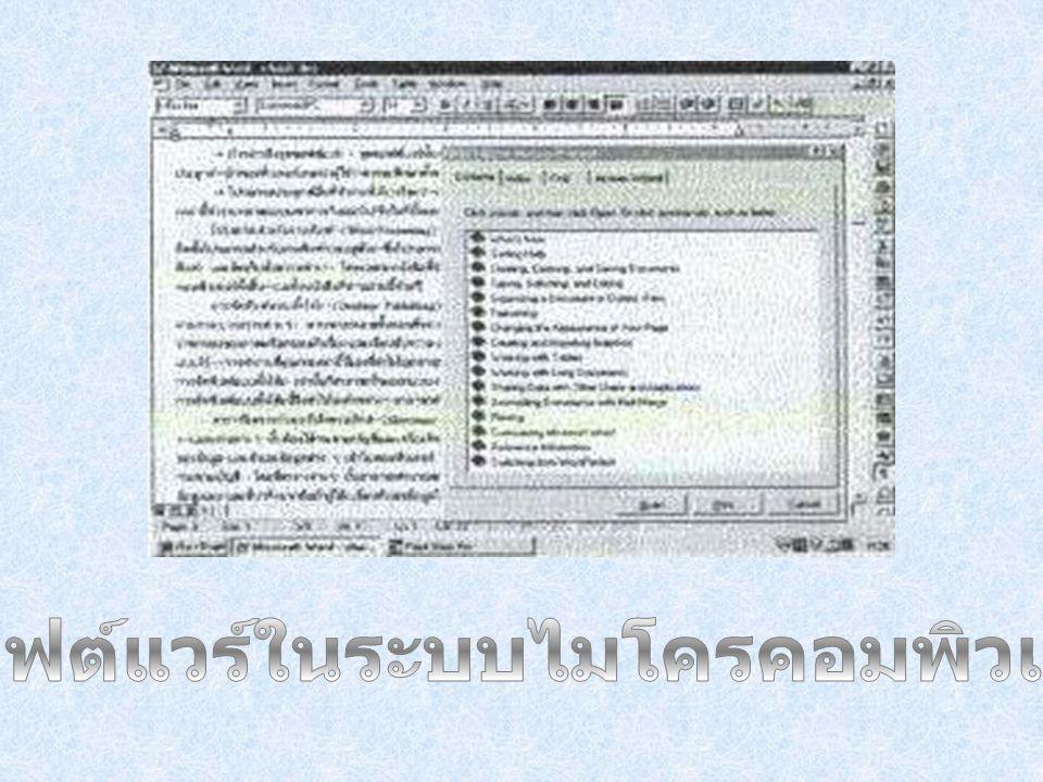 ซอฟต์แวร์ในระบบไมโครคอมพิวเตอร์