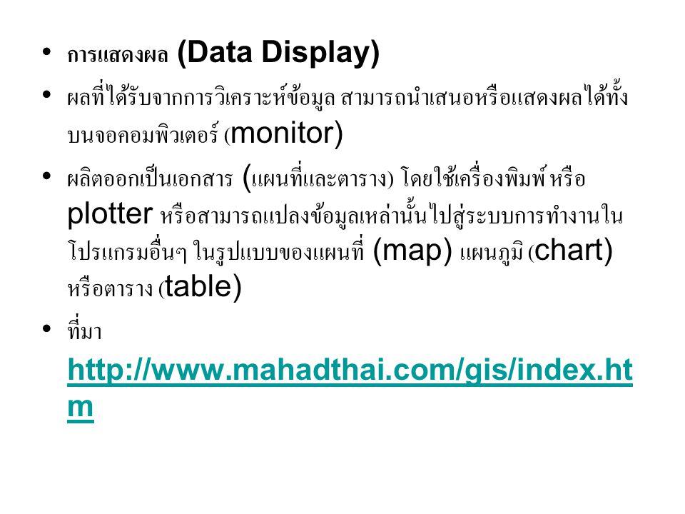 การแสดงผล (Data Display)