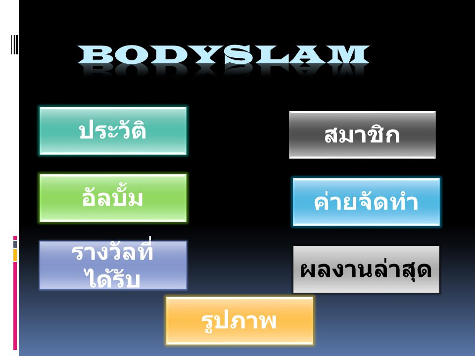 bodyslam ประวัติ สมาชิก อัลบั้ม ค่ายจัดทำ รางวัลที่ได้รับ ผลงานล่าสุด