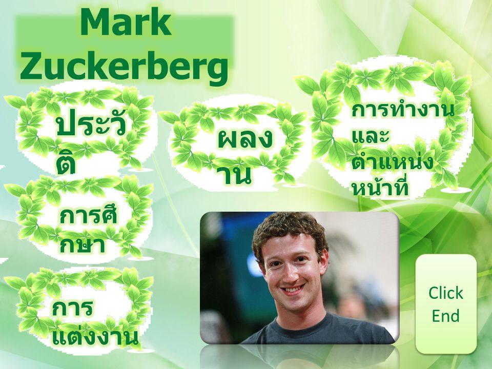Mark Zuckerberg ประวัติ ผลงาน การศึกษา การแต่งงาน