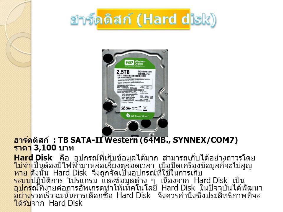 ฮาร์ดดิสก์ (Hard disk)