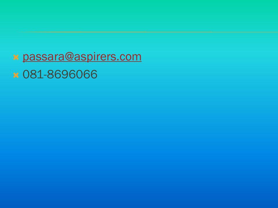 passara@aspirers.com 081-8696066