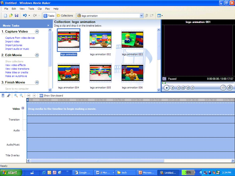 Using the task pane 3 Tasks: 1.Capture/Import 2.Edit 3.Finish