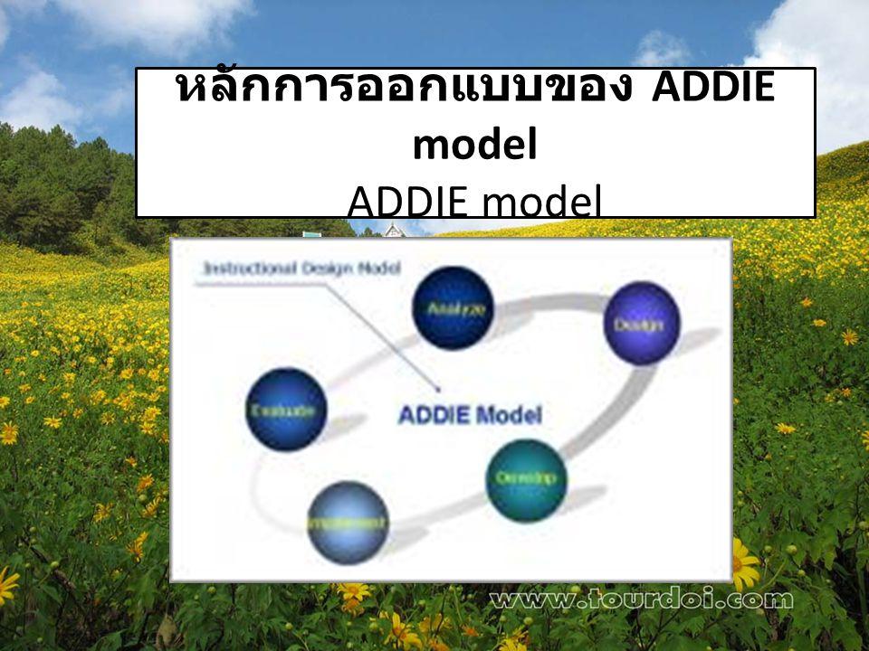 หลักการออกแบบของ ADDIE model ADDIE model