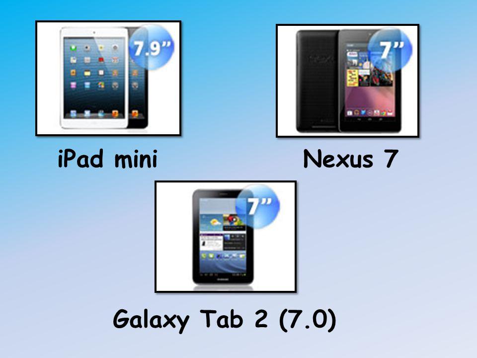 iPad mini Nexus 7 Galaxy Tab 2 (7.0)