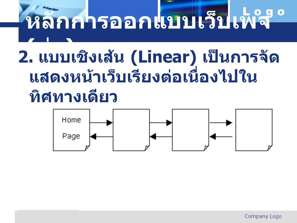 หลักการออกแบบเว็บเพจ (ต่อ)