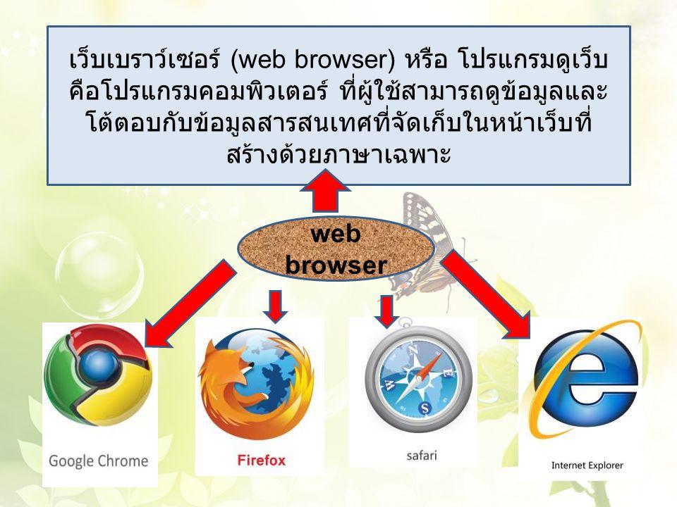 เว็บเบราว์เซอร์ (web browser) หรือ โปรแกรมดูเว็บ คือโปรแกรมคอมพิวเตอร์ ที่ผู้ใช้สามารถดูข้อมูลและโต้ตอบกับข้อมูลสารสนเทศที่จัดเก็บในหน้าเว็บที่ สร้างด้วยภาษาเฉพาะ
