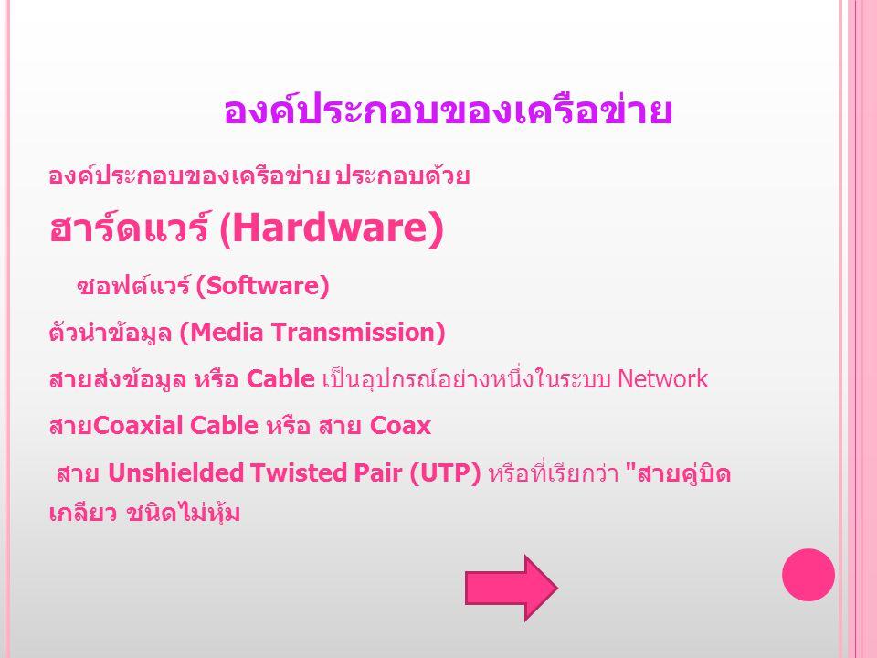 องค์ประกอบของเครือข่าย