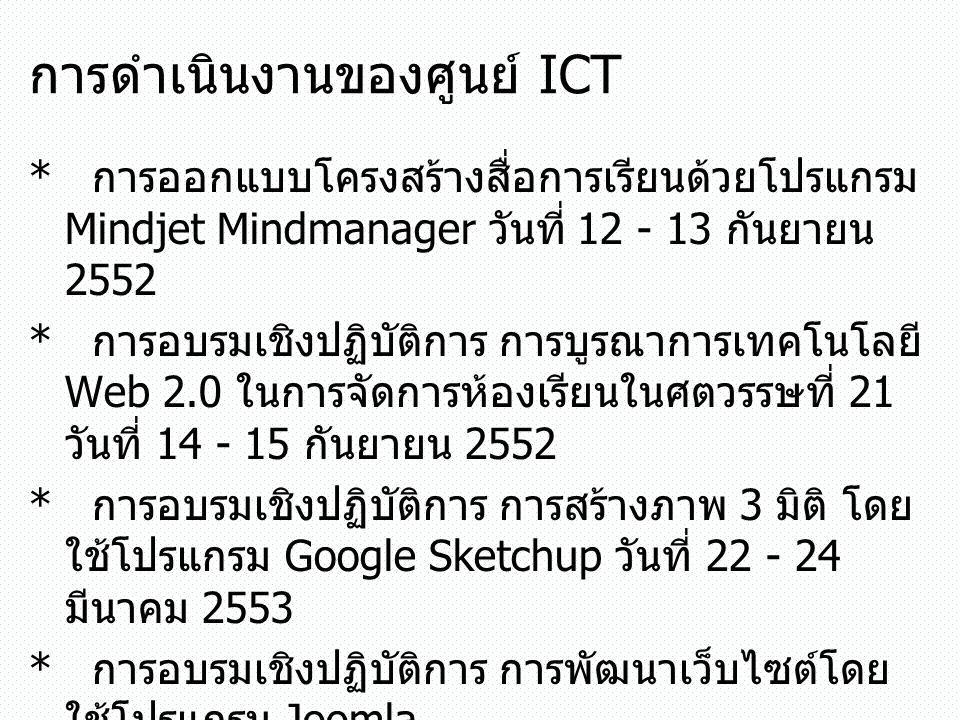 การดำเนินงานของศูนย์ ICT