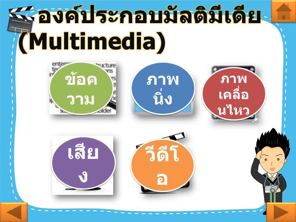 องค์ประกอบมัลติมีเดีย (Multimedia)