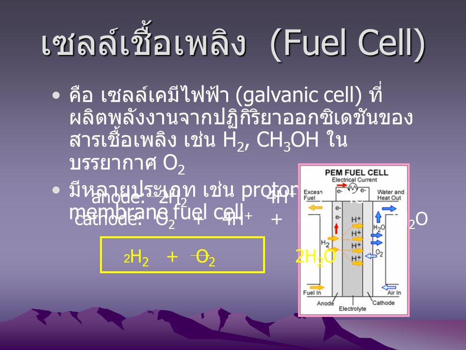 เซลล์เชื้อเพลิง (Fuel Cell)