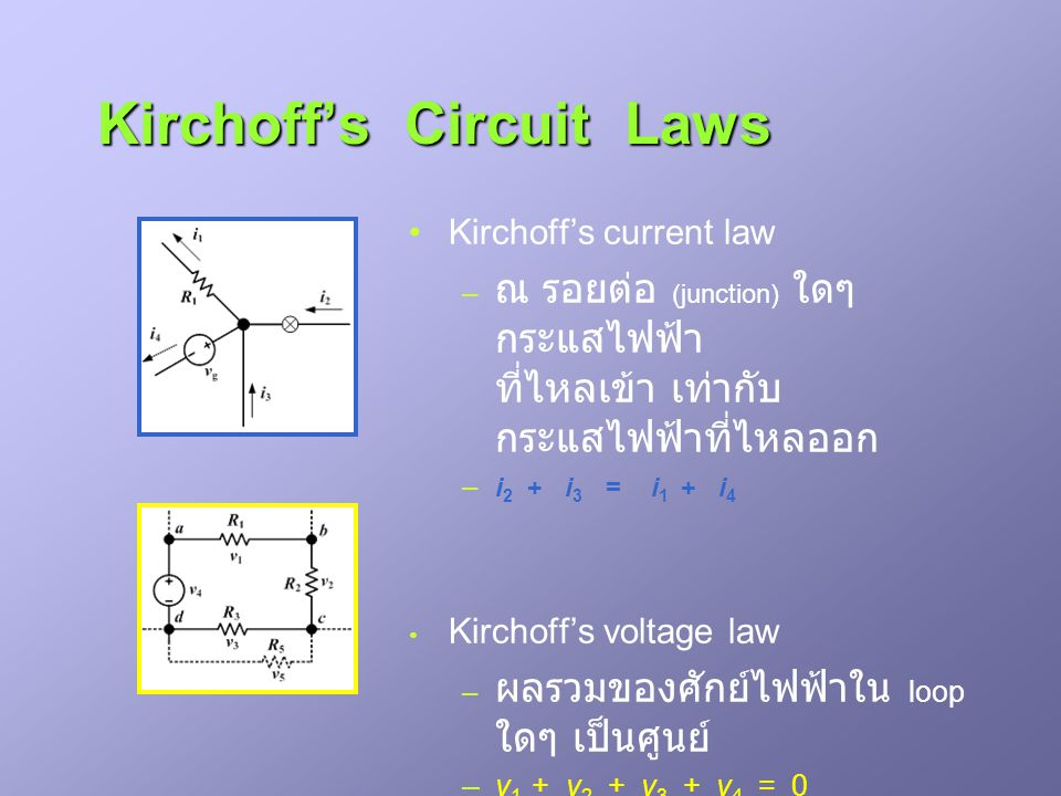 Kirchoff's Circuit Laws
